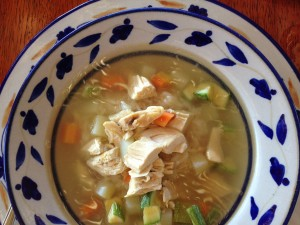 Caldo de Pollo (Chicken Soup) at Casa Que Canta